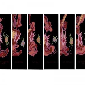 Gonzalo Tena. Everlasting feeling, 2010. Acrílico sobre PVC. 33 piezas. 85 x 23 cm- c_u