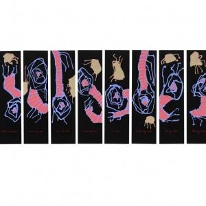 Gonzalo Tena. One, 2010. Acrílico sobre PVC. 10 piezas. 85 x 23 cm- c_u