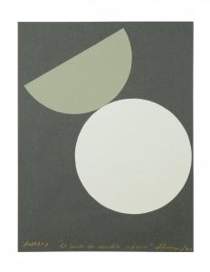 Amador. Collage gris círculos. 30 x 22cm